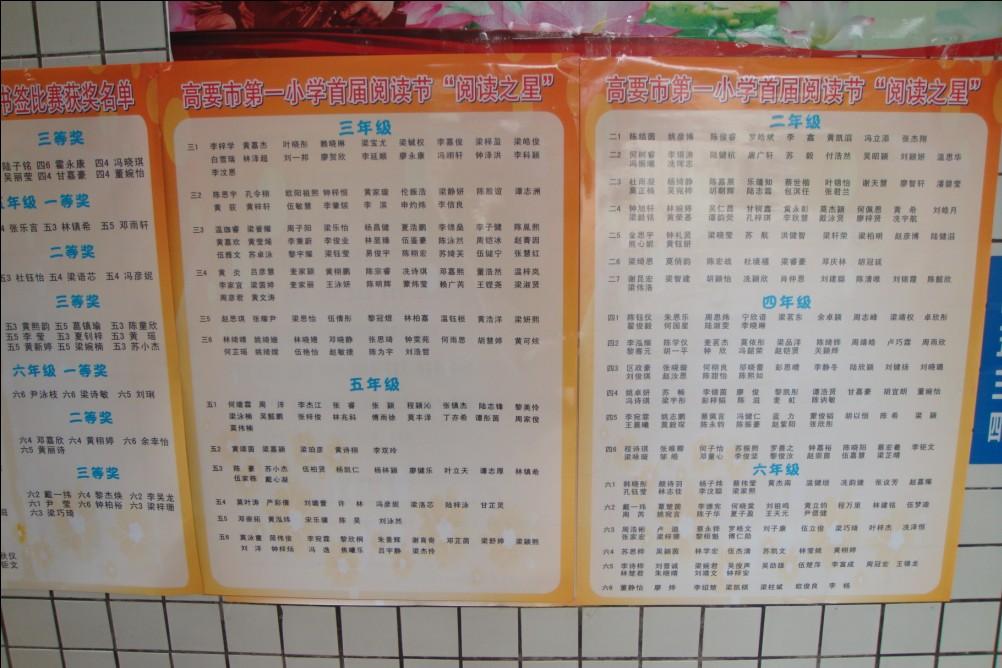 高要市第一小学首届闭幕节圆满阅读--广东共青v小学小学生如何图片