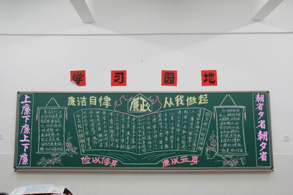 党风廉政建设黑板报-茂港区图片
